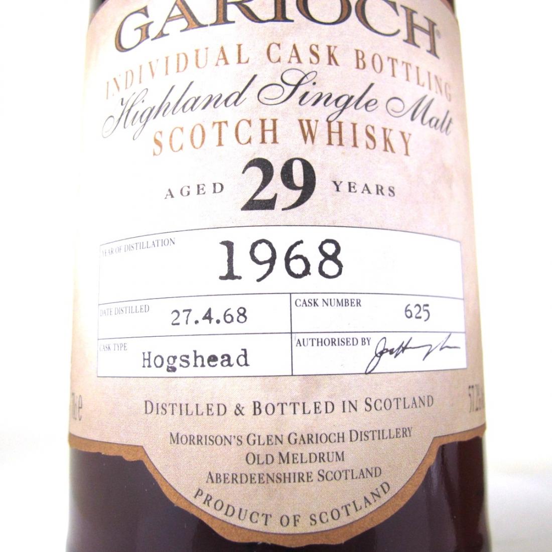 Glen Garioch 1968 Single Cask 29 Year Old