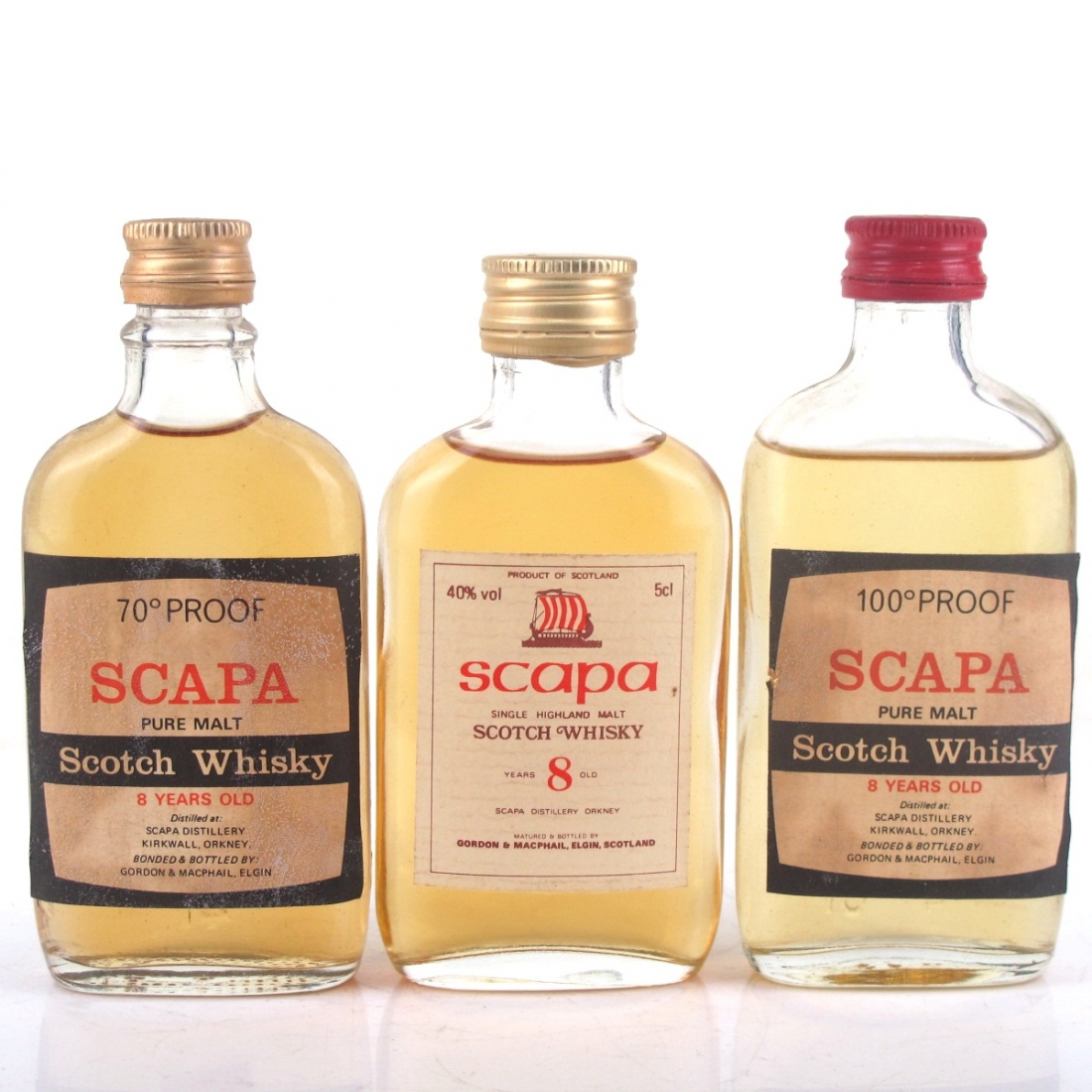 Scapa 8 Year Old Gordon and MacPhail 3 x Miniature