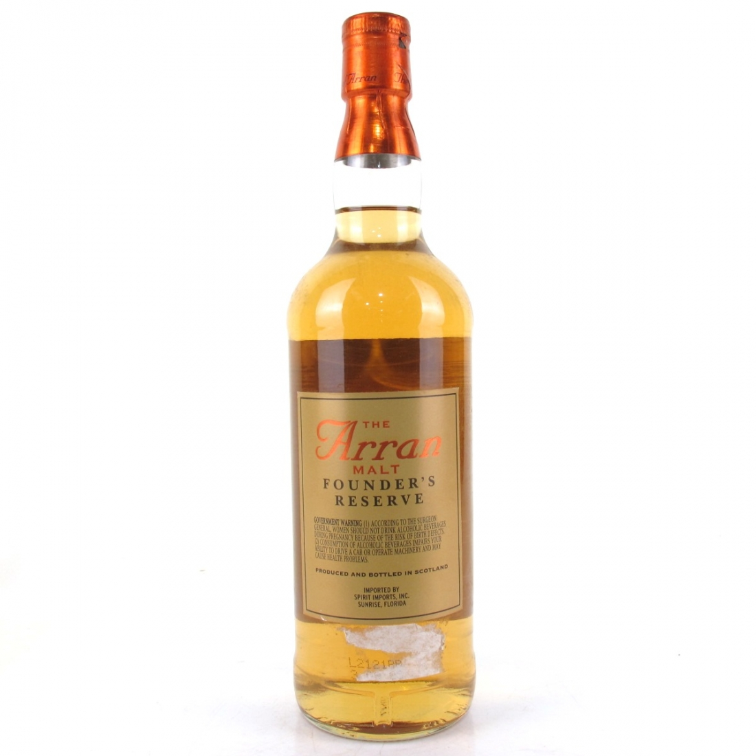 Arran Founder's Reserve 75cl / US Import