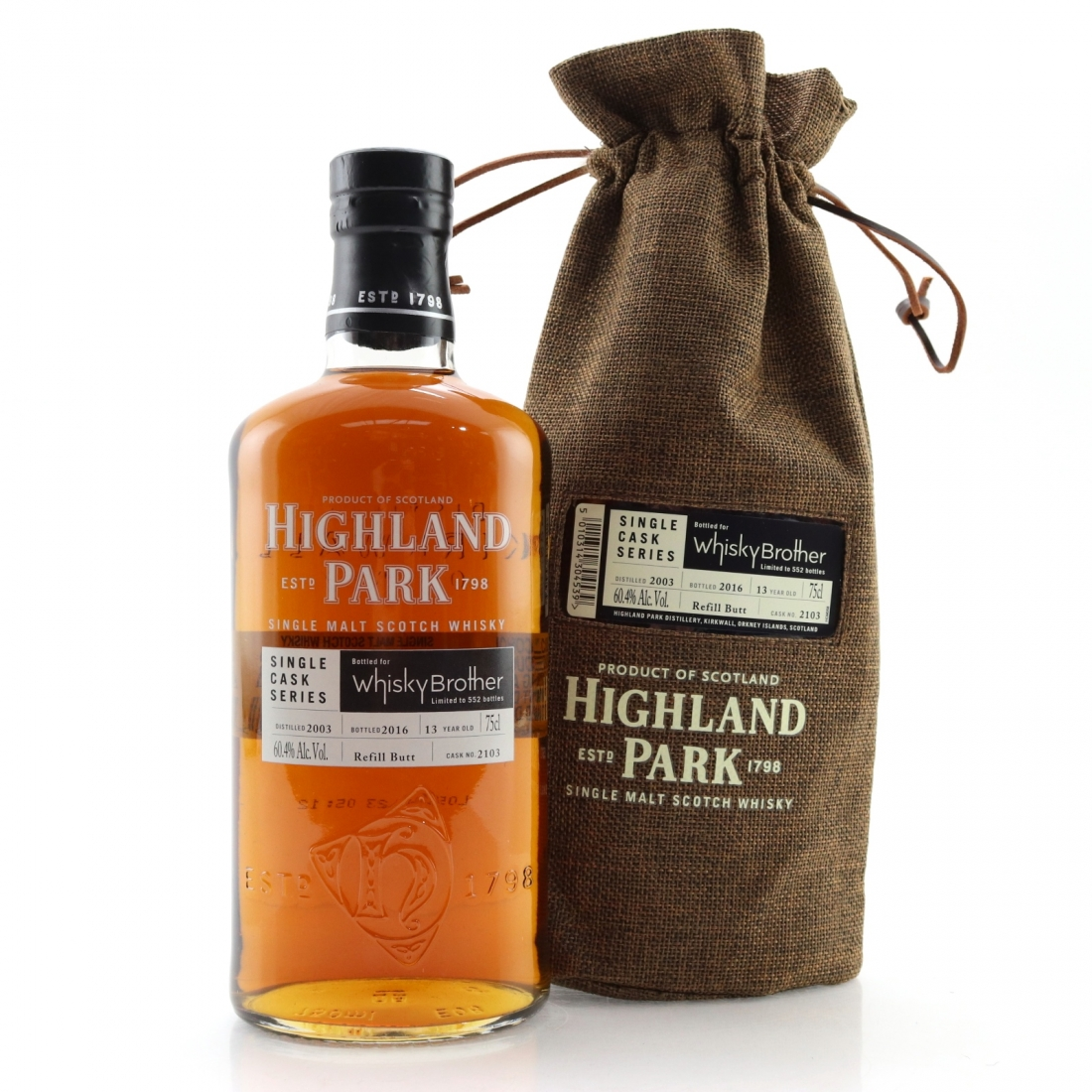 Highland Park 2003 Single Cask 13 Year Old #2103 75cl / Whisky Brother