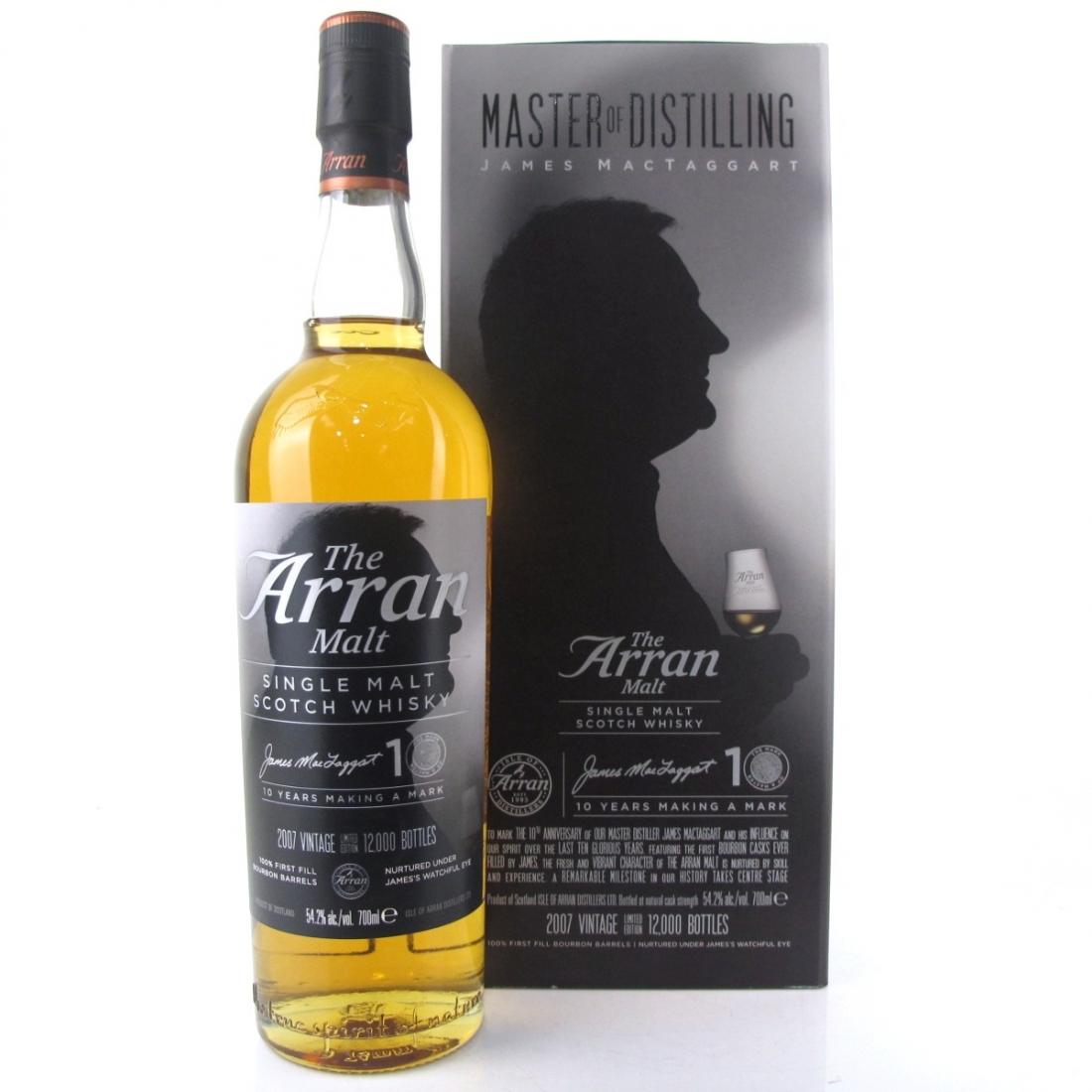 Arran 2007 Master of Distilling 10 Year Old