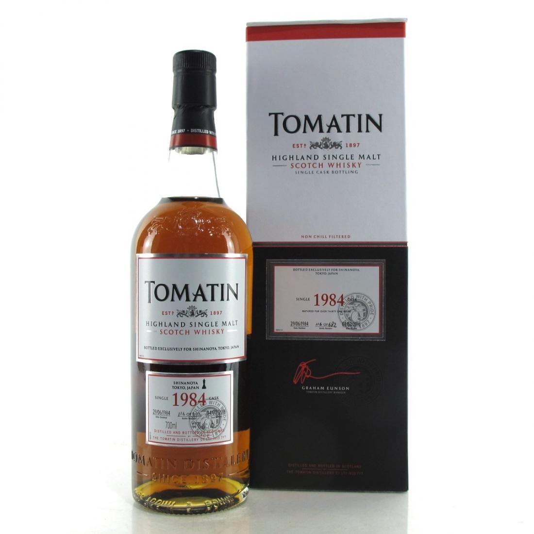 Tomatin 1984 Single Cask 31 Year Old #36504 / Shinanoya