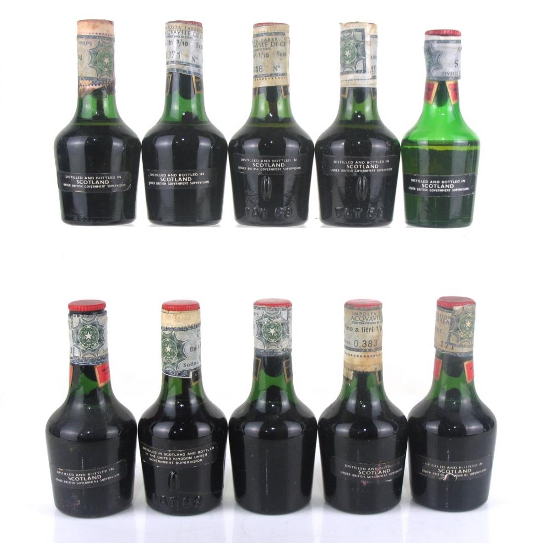 VAT 69 Miniatures 10 x 4.68cl 1970s / SILVER Import