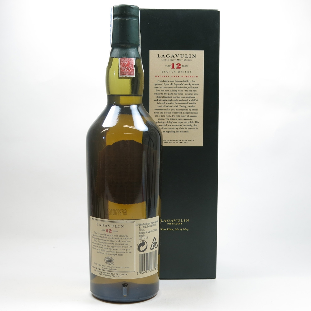 Lagavulin 12 Year Old 2003 Release Back
