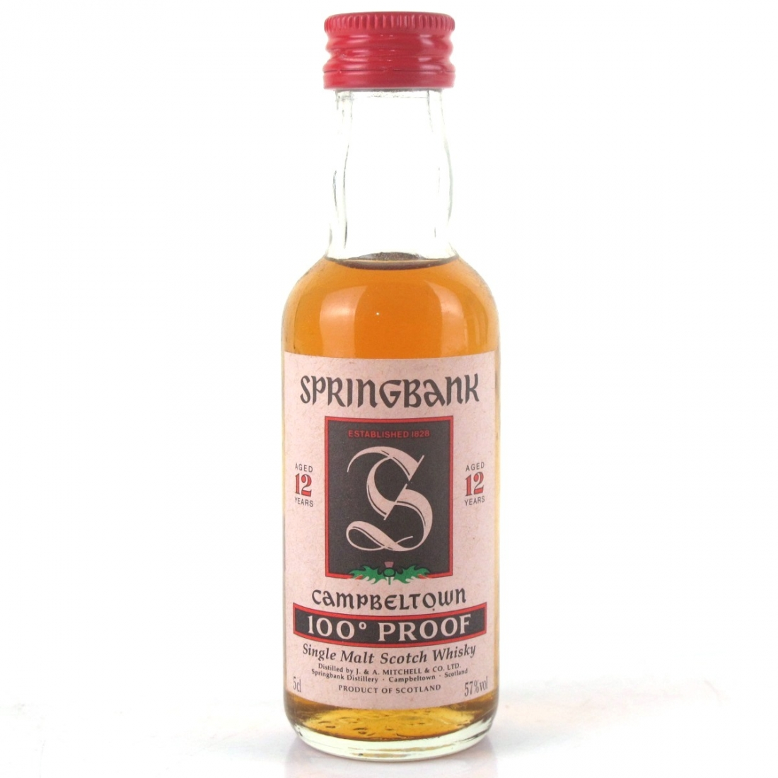 Springbank 12 Year Old 100 Proof Miniature 5cl