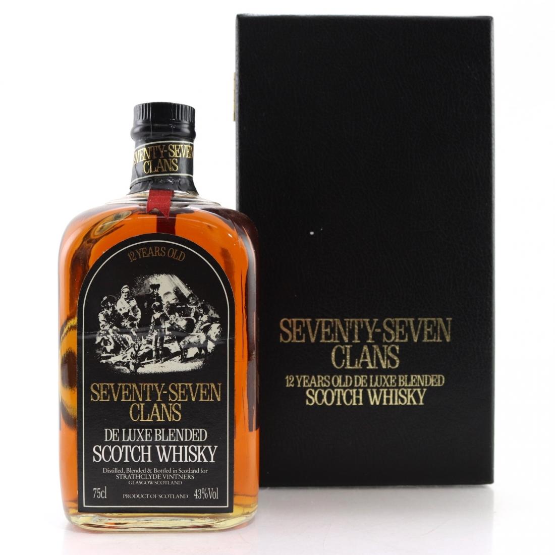 Seventy Seven Clans 12 Year Old Scotch Whisky 1980s