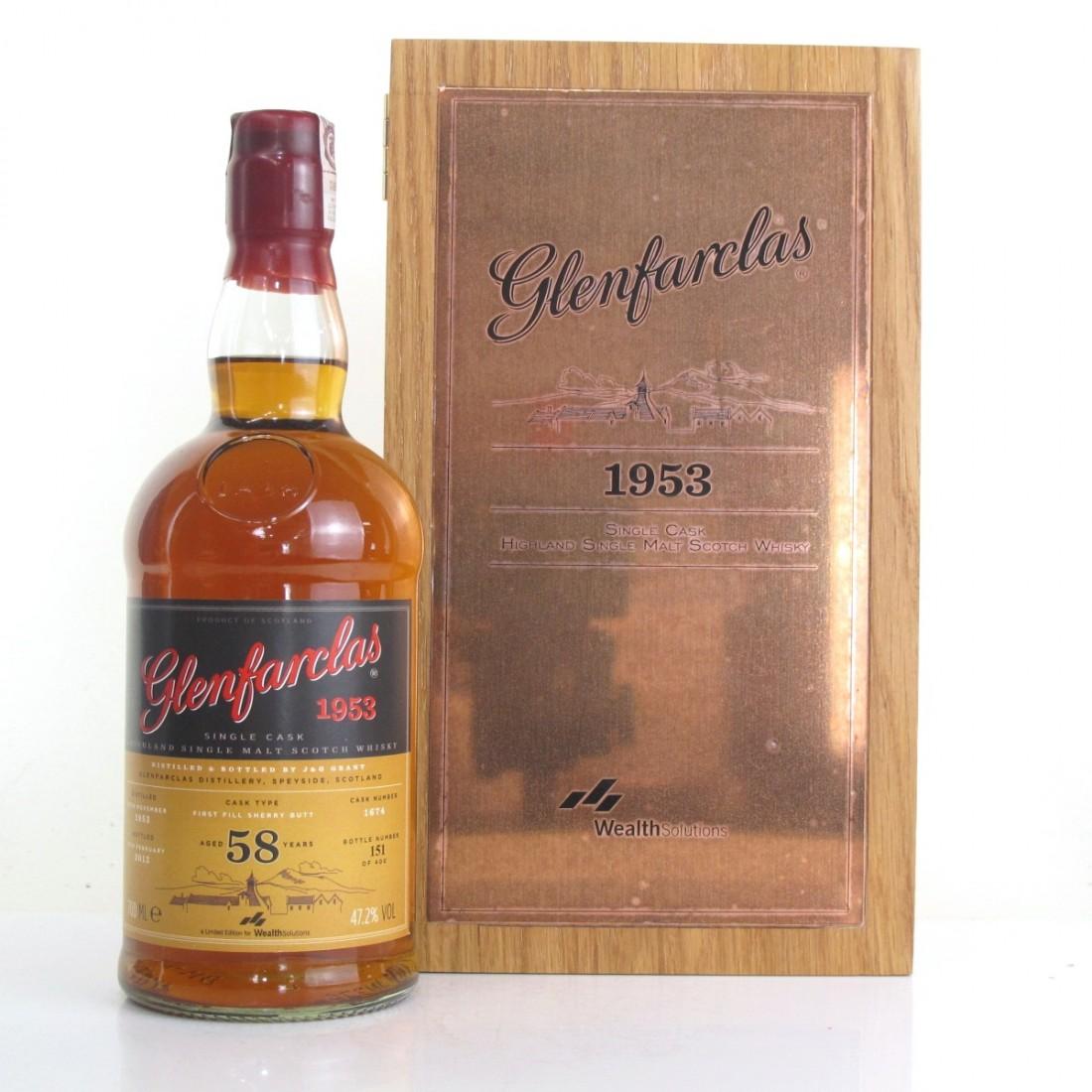 Glenfarclas 1953 Single Cask 58 Year Old / Wealth Solutions