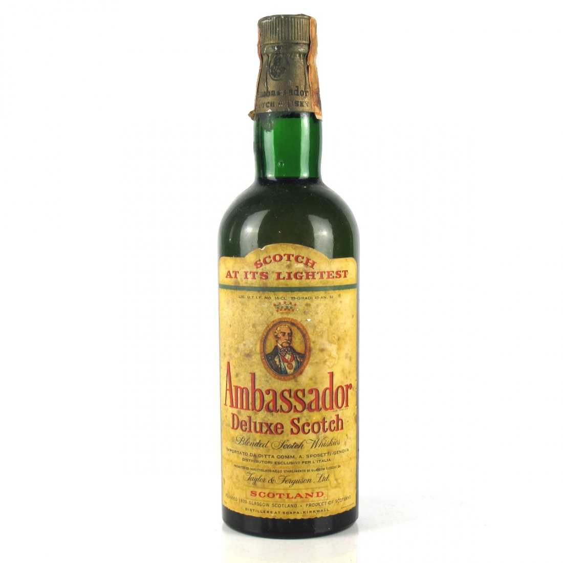 Ambassador Deluxe Scotch Whisky 1960s