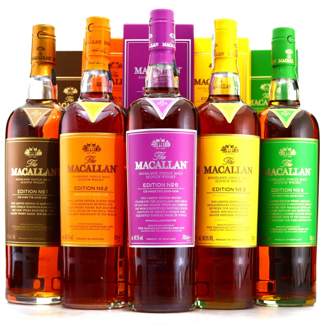 Macallan Edition No.1-5 Collection 5 x 70cl