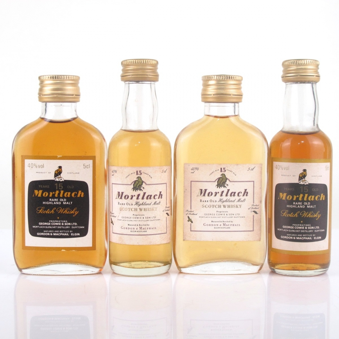 Mortlach 15 Year Old Gordon and MacPhail Miniature Selection 4 x 5cl