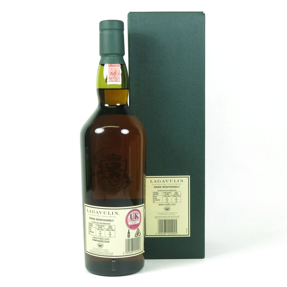Lagavulin 21 Year Old 2007 Release back