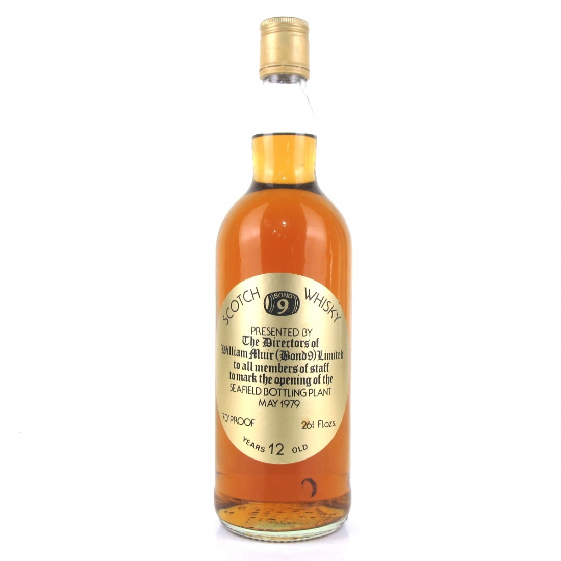 Bond 9 1979 Opening Of Seafield Bottling Plant 12 Year Old