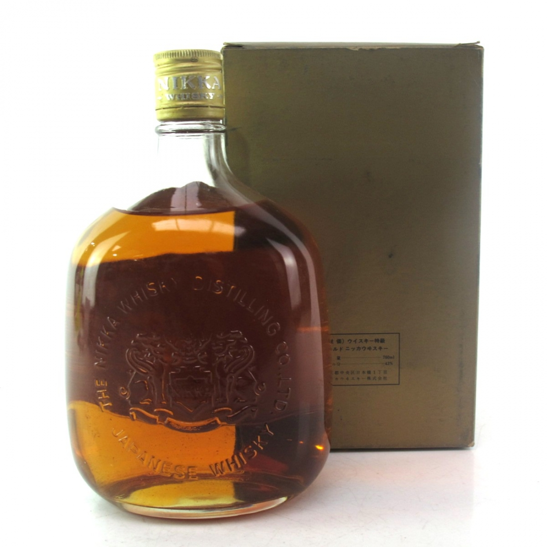 Nikka Gold and Gold 76cl 1980s