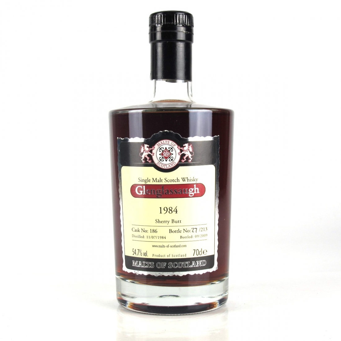 Glenglassaugh 1984 Malts of Scotland 25 Year Old Cask #186