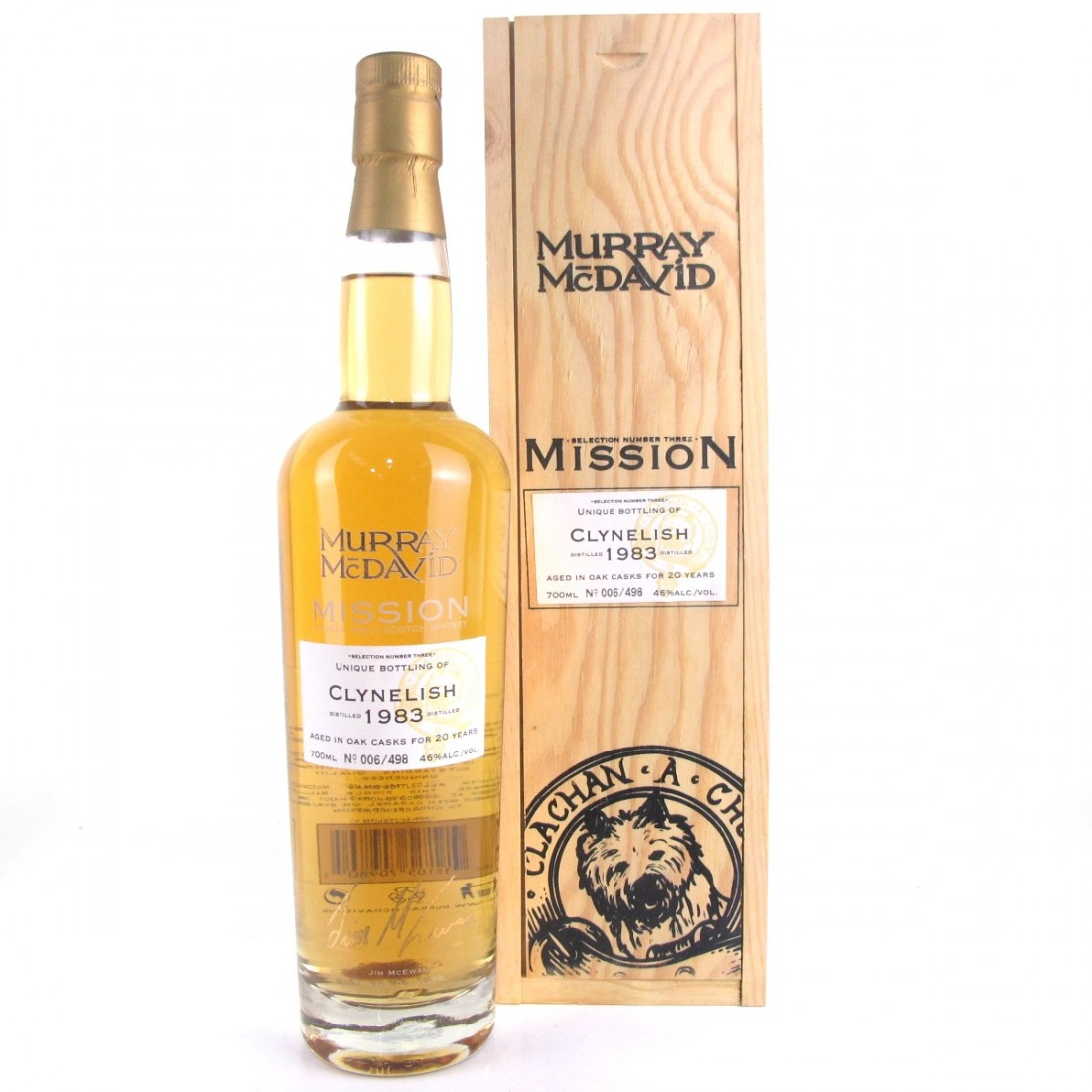 Clynelish 1983 Murray McDavid 20 Year Old / Signed