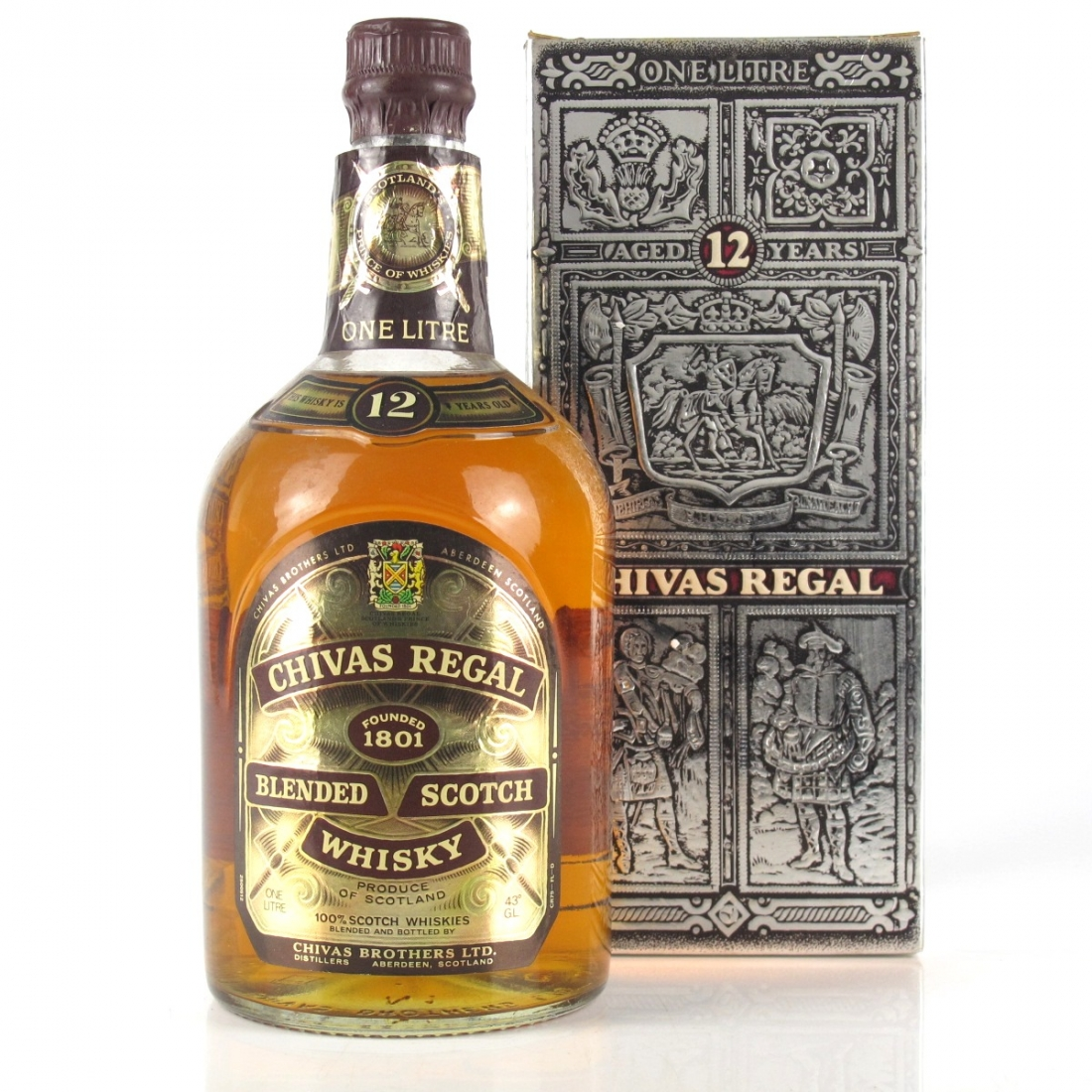 Chivas Regal 12 Year Old 1 Litre 1980s