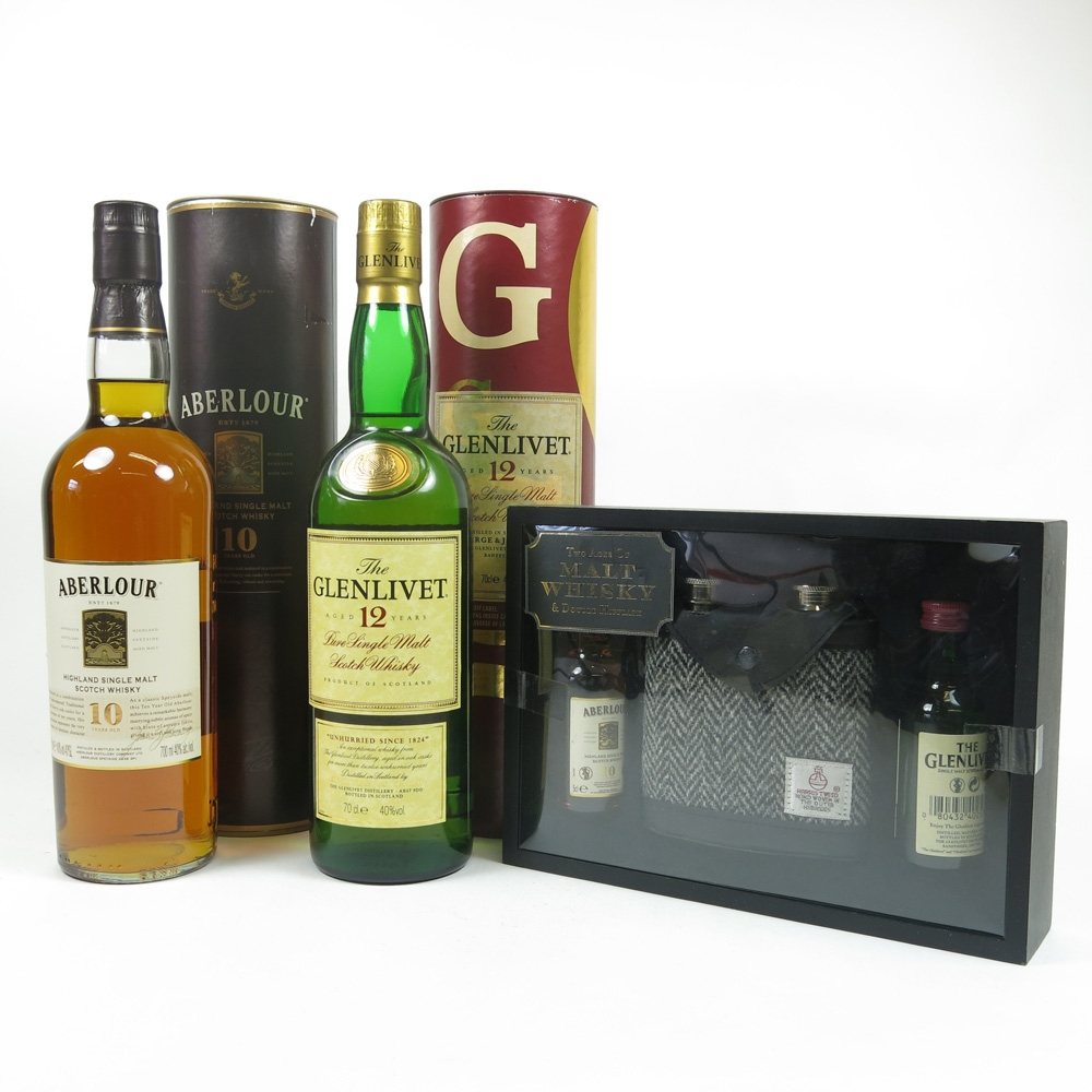 Miscellaneous Single Malts 2 x 70cl Including Gift Pack