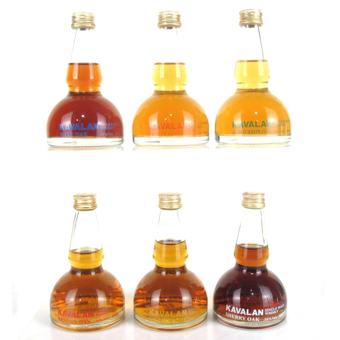 Kavalan 'Hexagon' Pot Still Miniature Selection 6 x 50ml