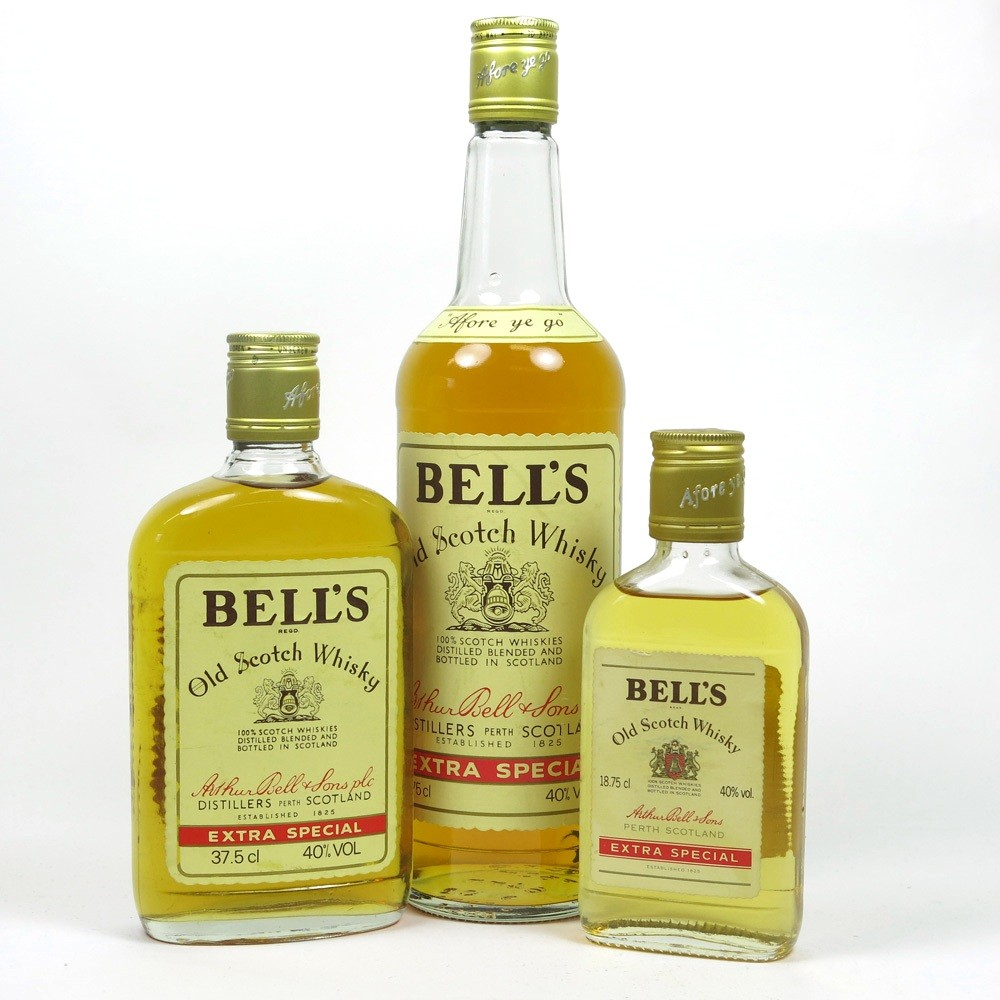 Bell's Extra Special 1980s Including A Half Bottle and Quarter Bottle