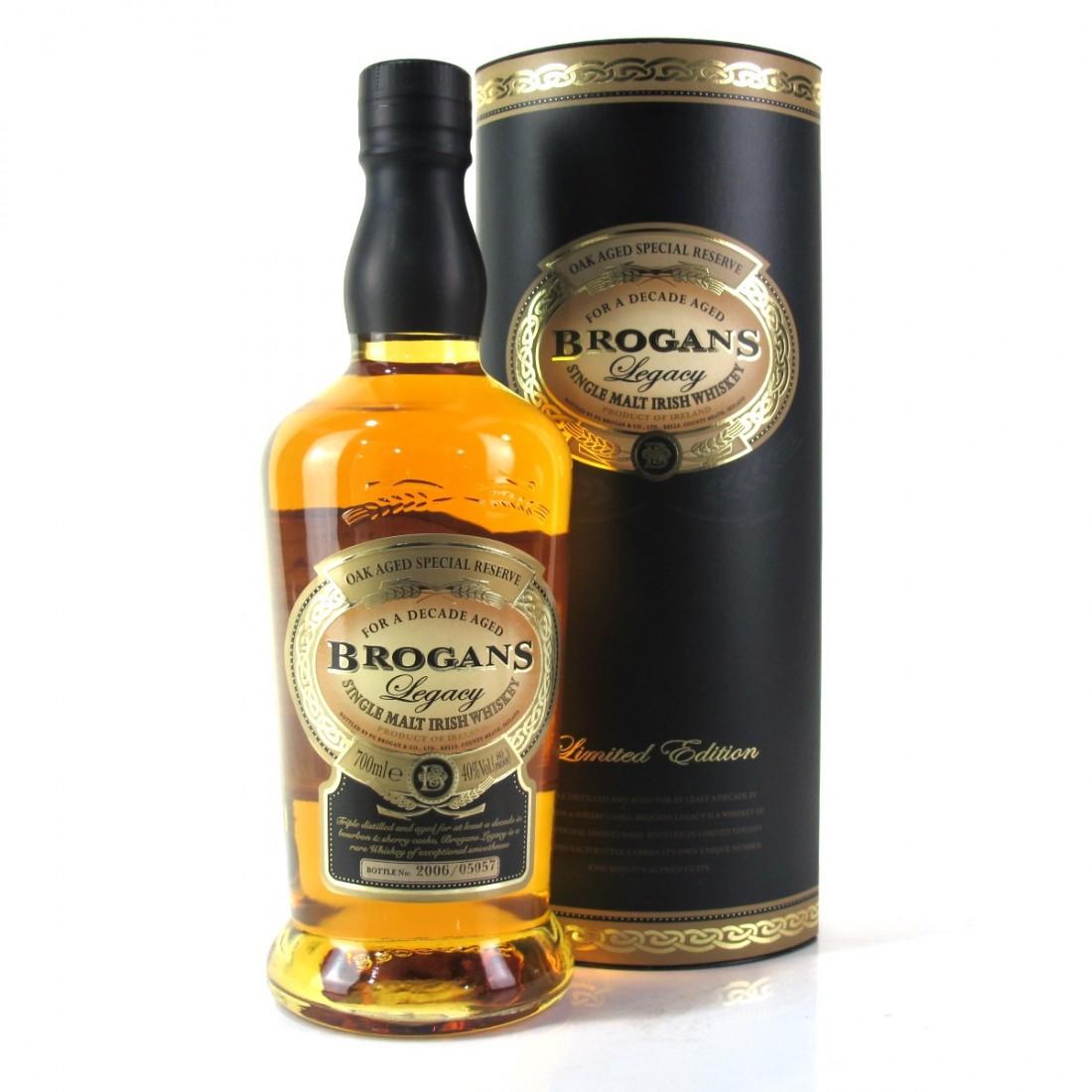 Brogans Legacy 10 Year Old Irish Single Malt