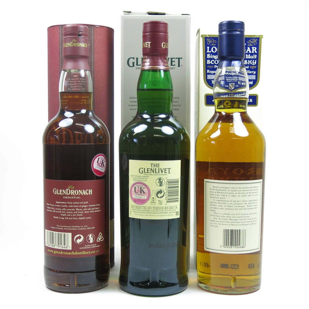 Miscellaneous Single Malt 12Year Olds 3 x 70cl Back