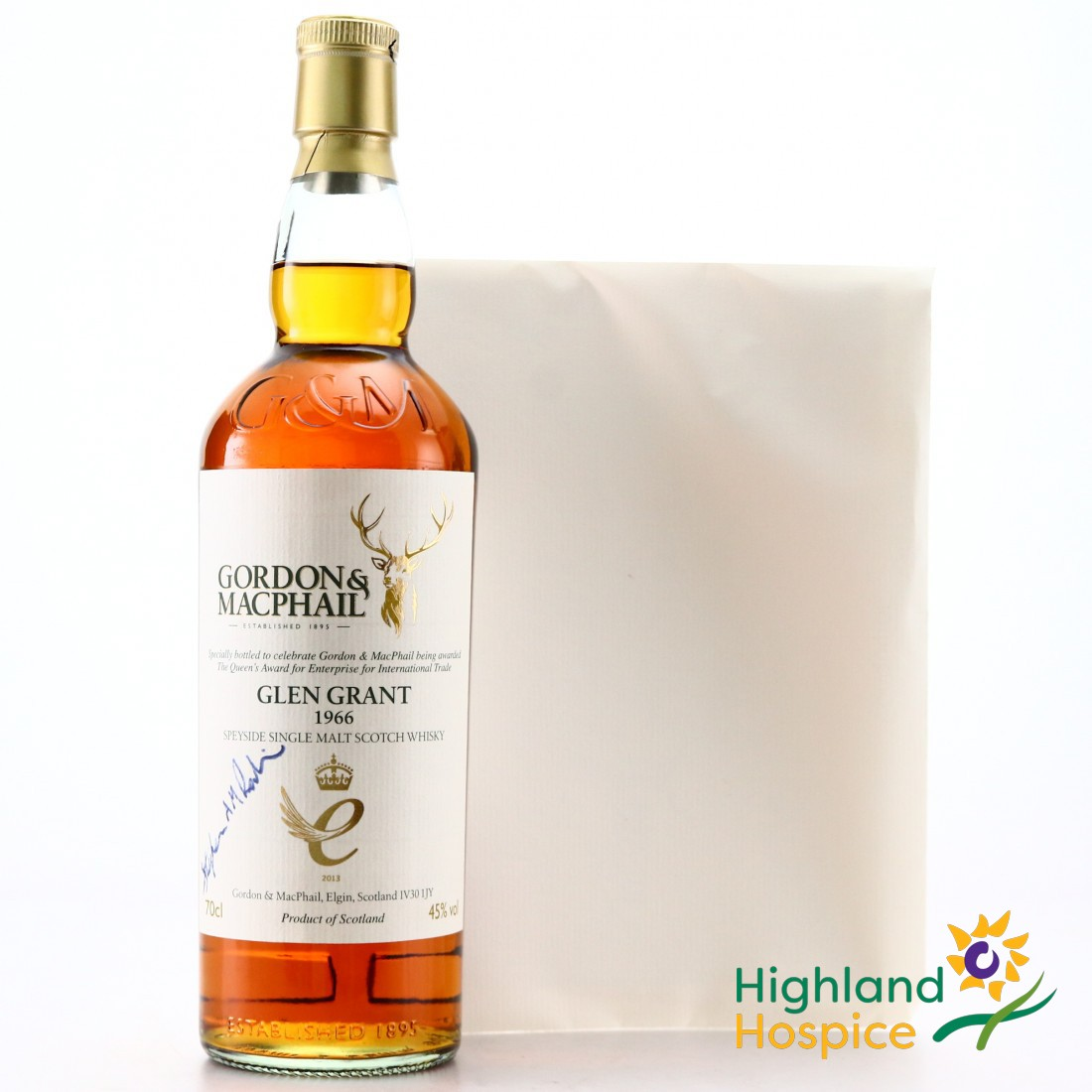 Glen Grant 1966 Gordon and MacPhail / Queen's Award for Enterprise with Whisky Tasting - Highland Hospice Charity Lot