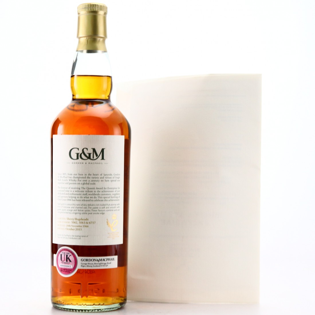 Glen Grant 1966 Gordon and MacPhail / Queen's Award for Enterprise with Whisky Tasting / Highland Hospice Charity Lot