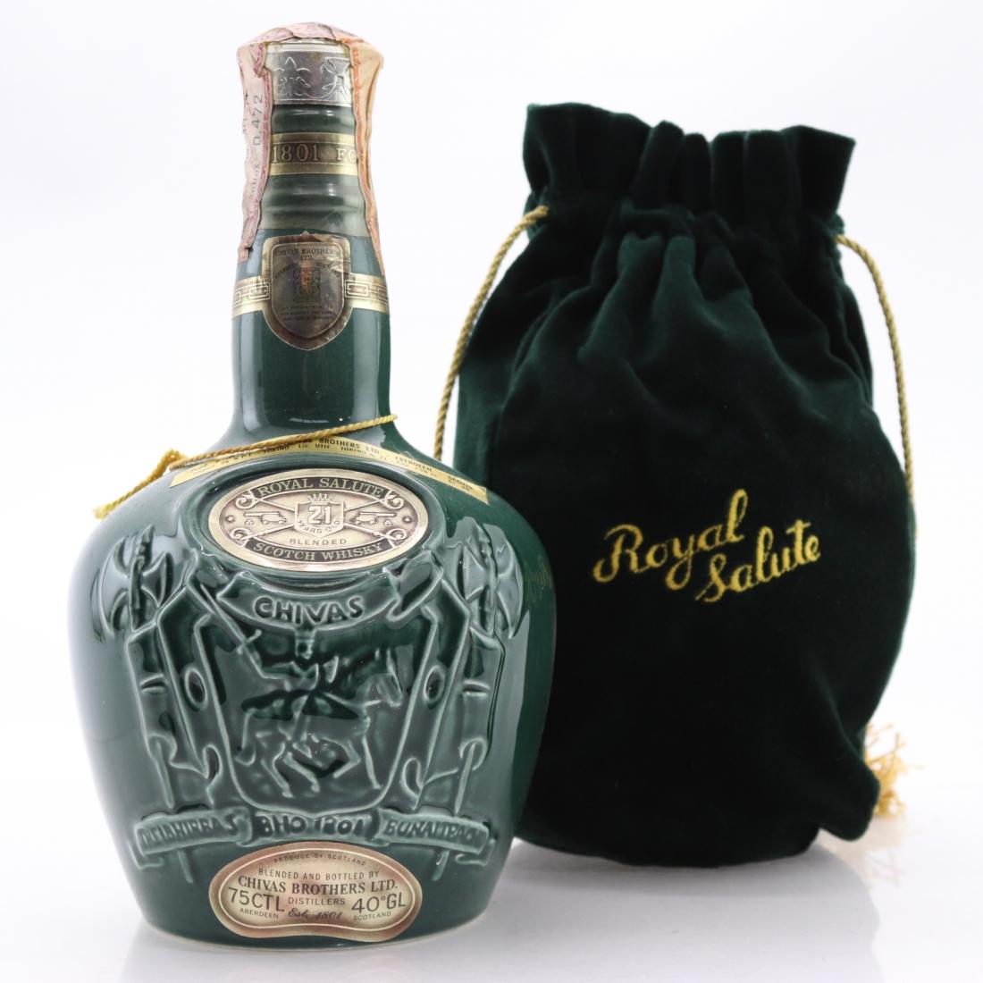 Chivas 21 Year Old Royal Salute 1970s / Emerald Flagon