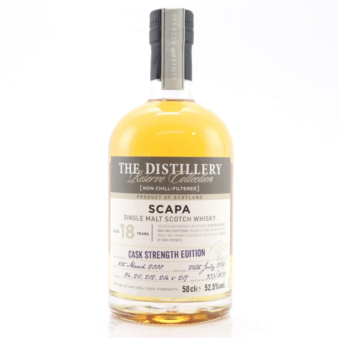 Scapa 2000 Reserve Collection 18 Year Old / Cask Strength Edition