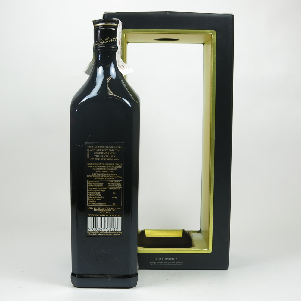 Johnnie Walker Black Label Anniversary Edition Back