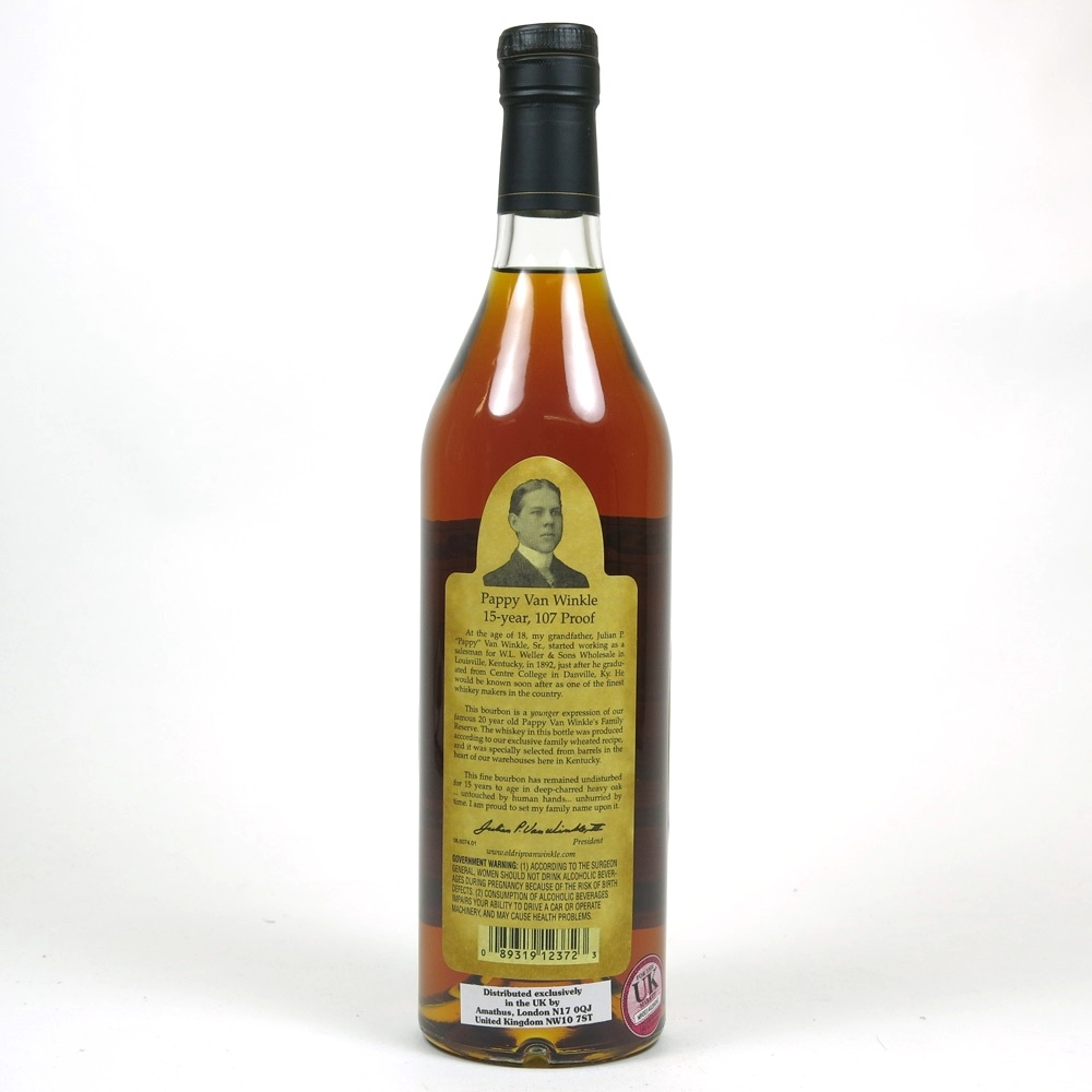 Pappy Van Winkle Family Reserve 15 Year Old Back
