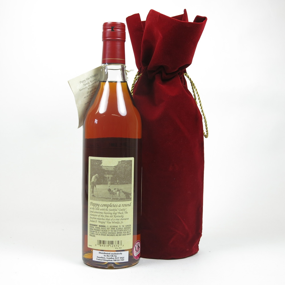 Pappy Van Winkle Family Reserve 20 Year Old Back