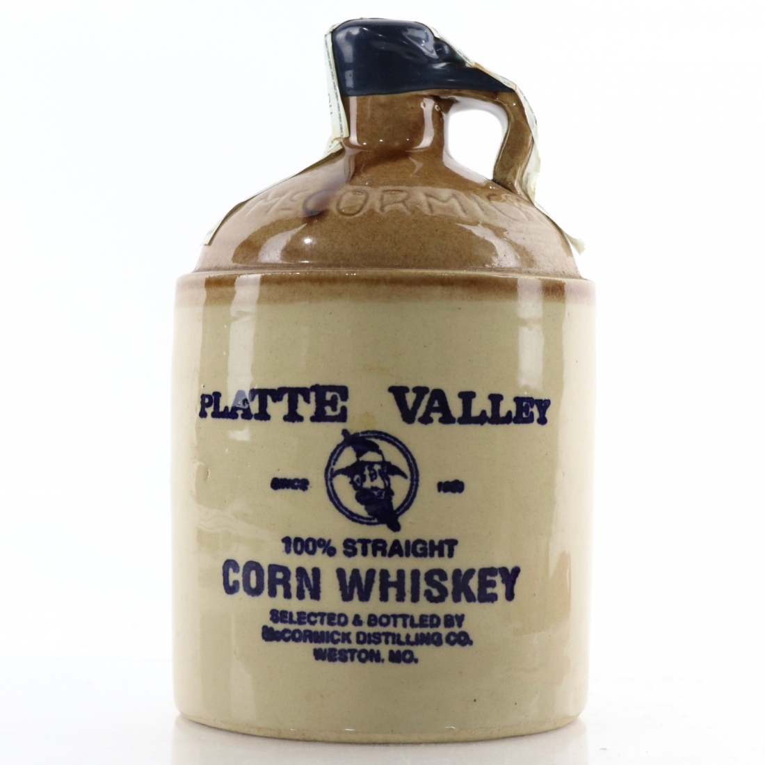Platte Valley 100% Straight Corn Whiskey Decanter