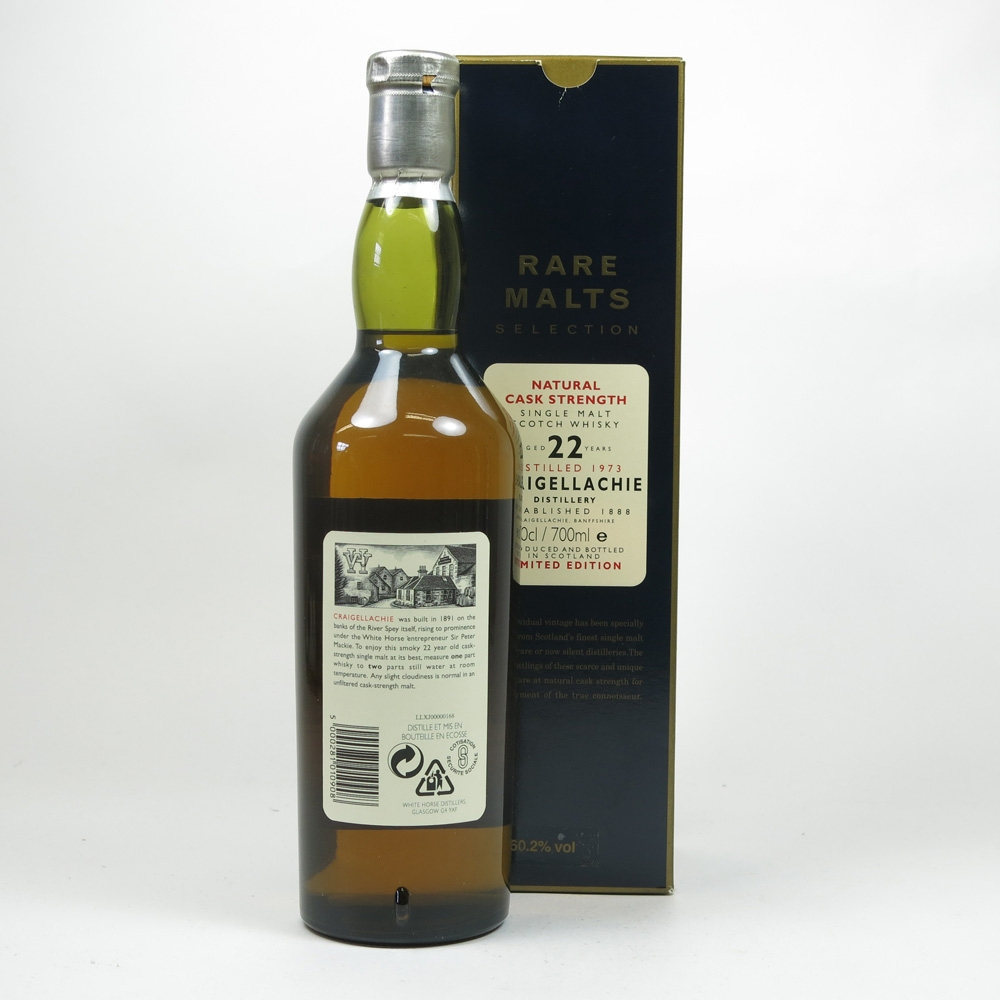 Craigellachie 1973 Rare Malts 22 Year Old Limited Edition Back