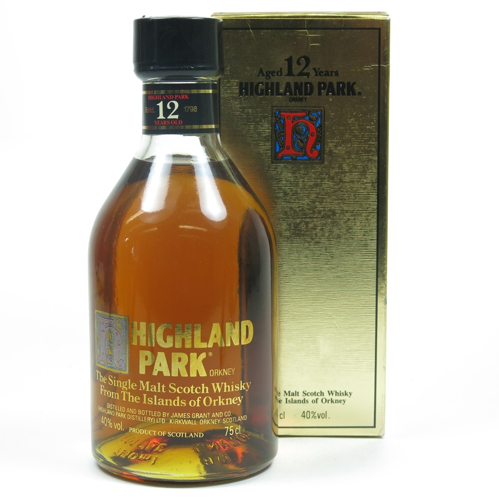 Highland Park 12 Year Old Screen Print Label 1980s Front