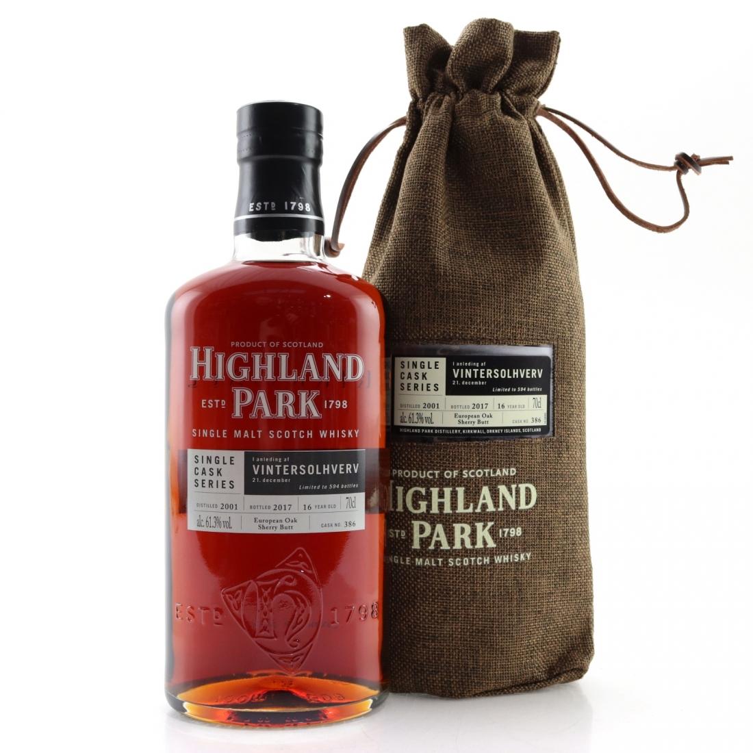 Highland Park 2001 Single Cask 16 Year Old #386 / Vintersolhverv