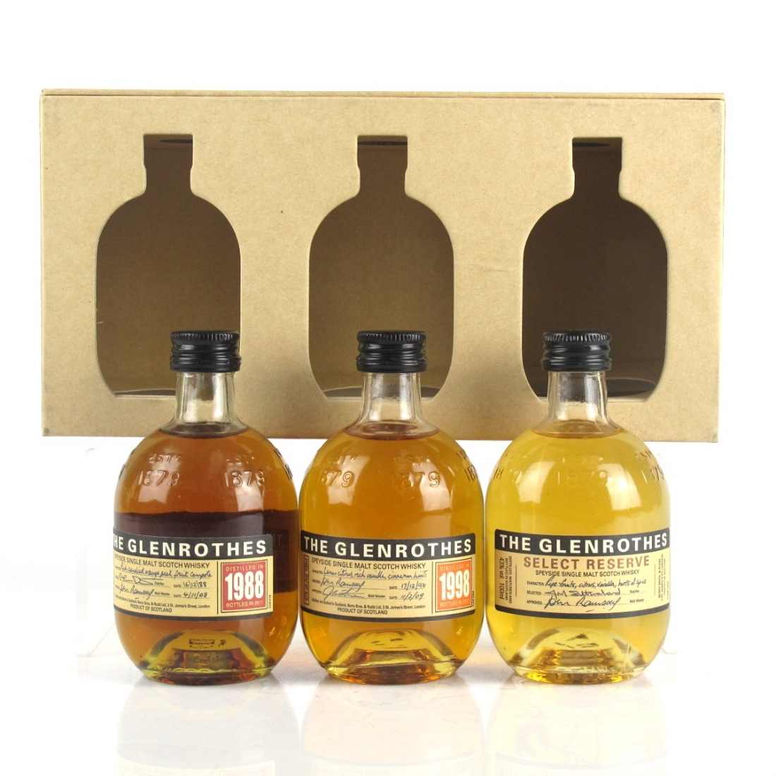 Glenrothes Gift Set 3 x 10cl / Including 1988