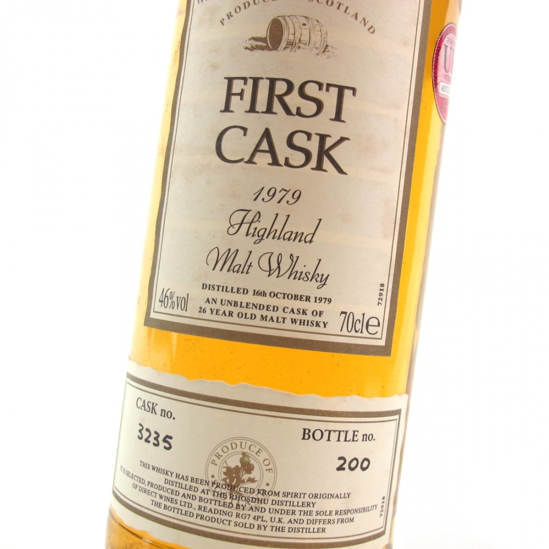 Loch Lomond / Rhosdhu 1979 First Cask 26 Year Old
