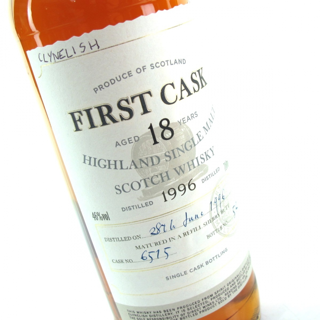 Clynelish 1996 First Cask 18 Year Old