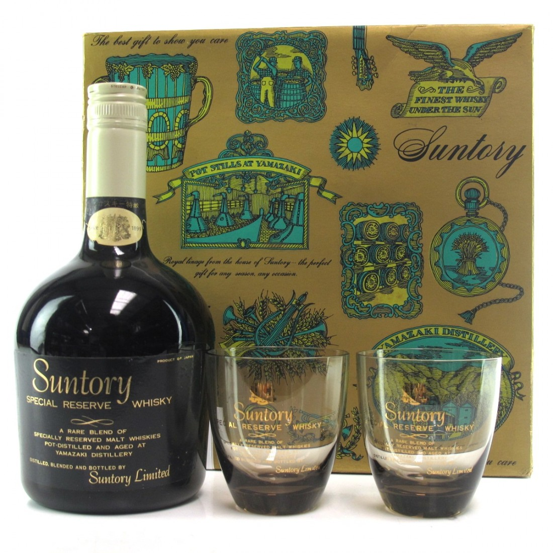 Suntory Special Reserve 76cl / with Glasses x 2