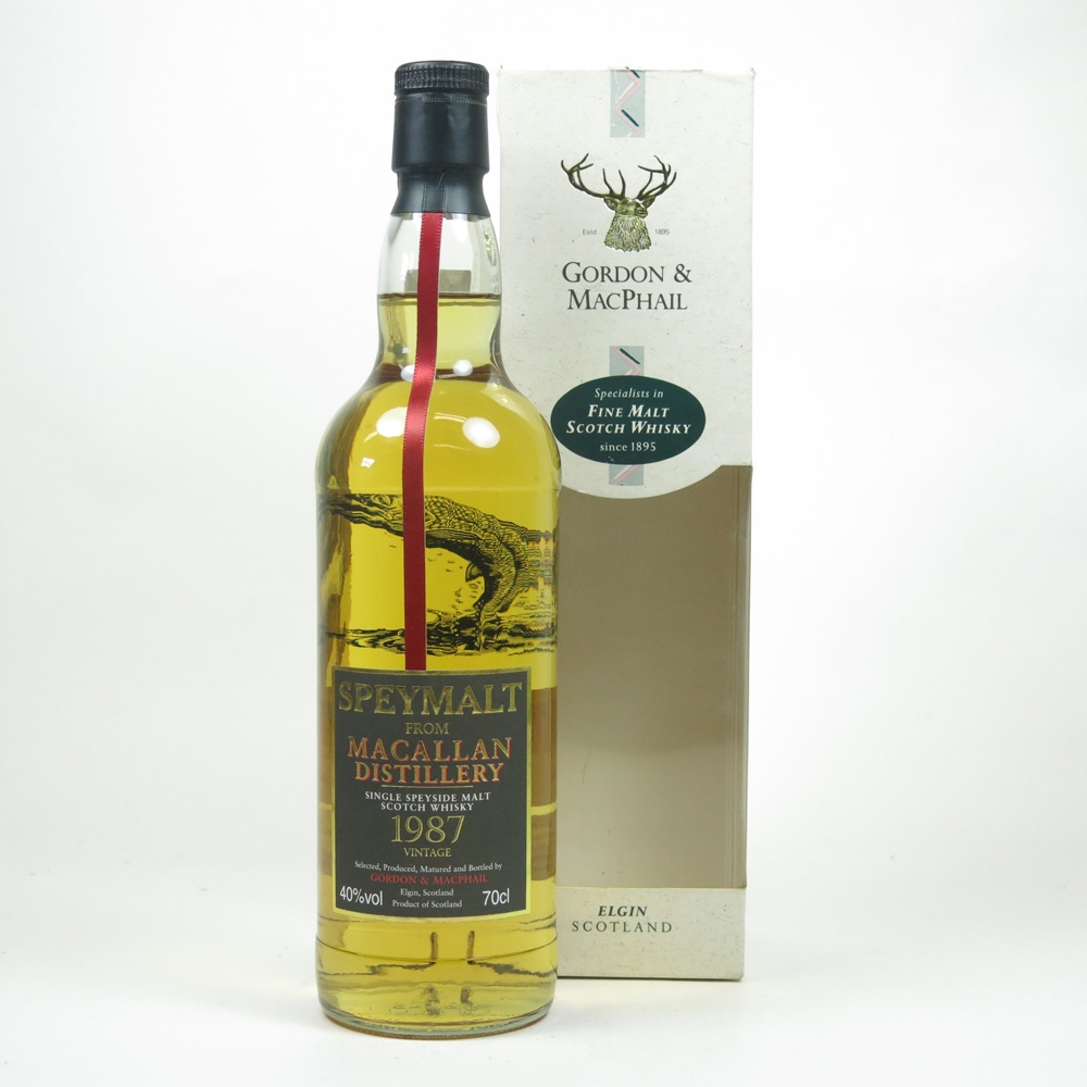 Macallan 1987 Gordon and Macphail Speymalt Front