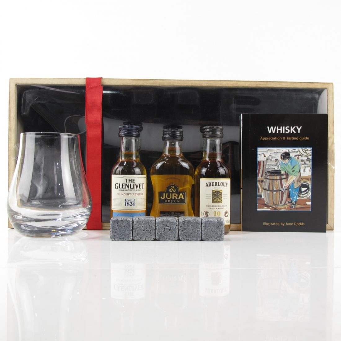 Whisky Appreciation Set / Glenlivet / Jura / Aberlour / 3 x 5cl
