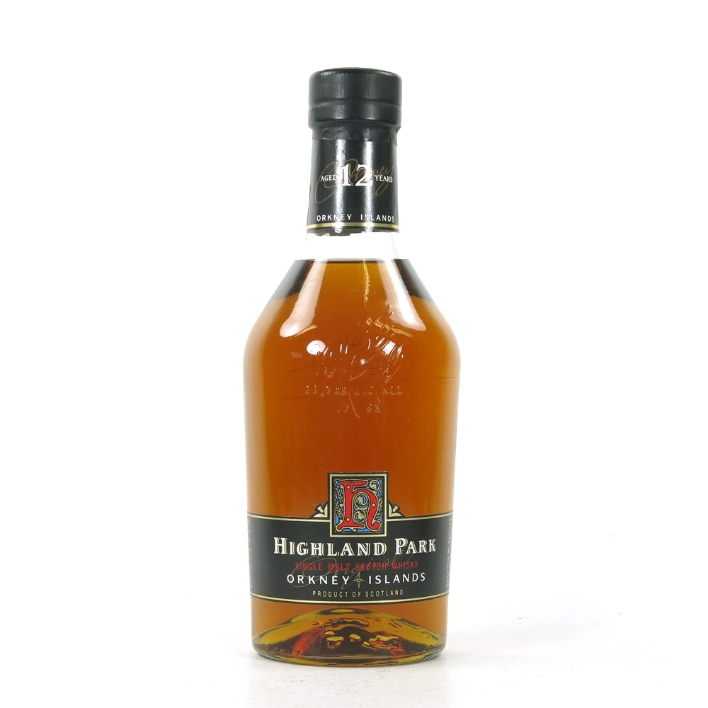 Highland Park 12 Year Old Red 'H' Over Black 1990s Front