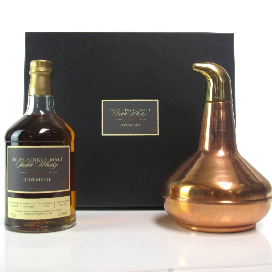 Bowmore 1980 Single Cask 23 Year Old #5777 / Including Still Decanter