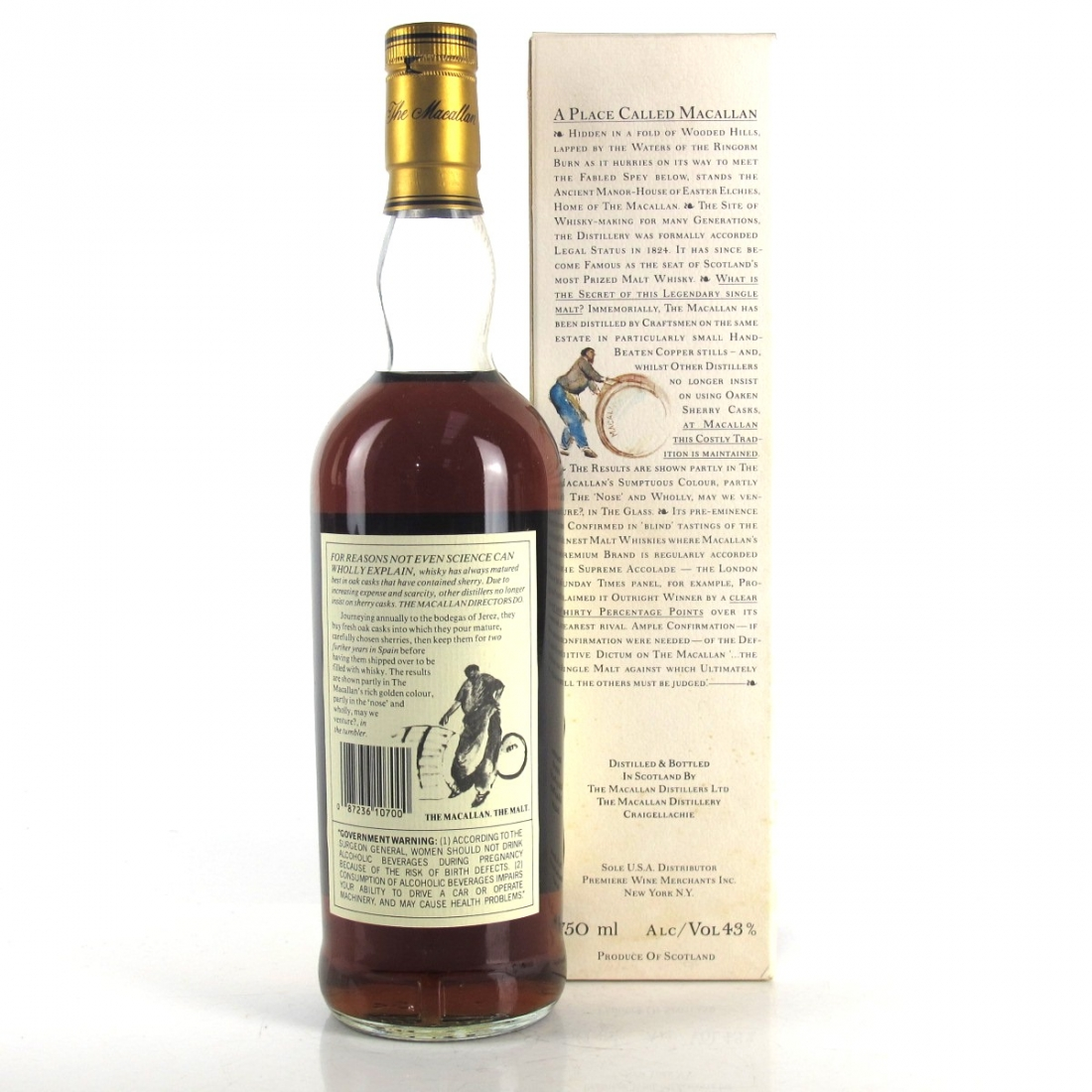 Macallan 18 Year Old 1972 75cl / US Import
