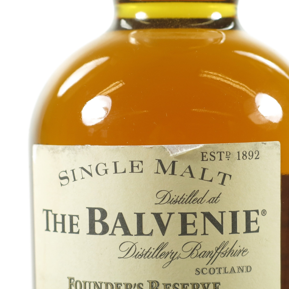 Balvenie 10 Year Old Founder's Reserve Label