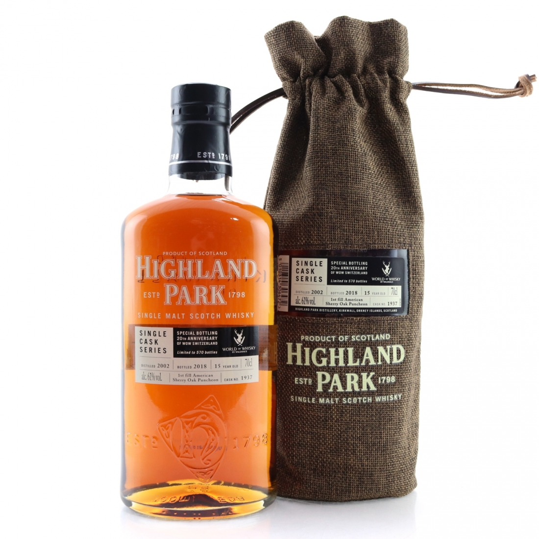 Highland Park 2002 Single Cask 15 Year Old #1937 / WoW Switzerland 20th