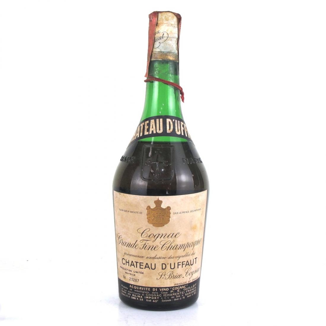 Chateau D'Uffaut Grande Fine Champagne Cognac 1970s
