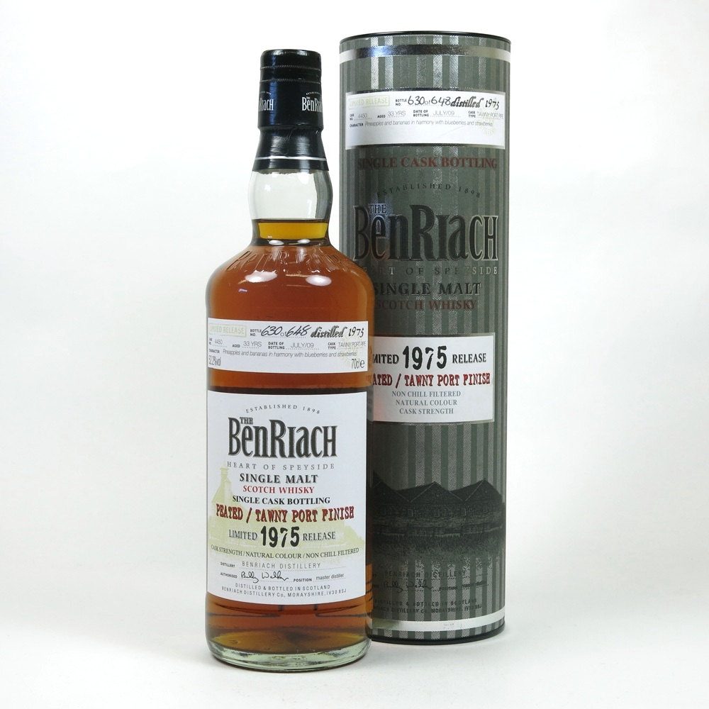 Benriach 1975 Single Cask 33 Year Old Peated Tawny Port Finish