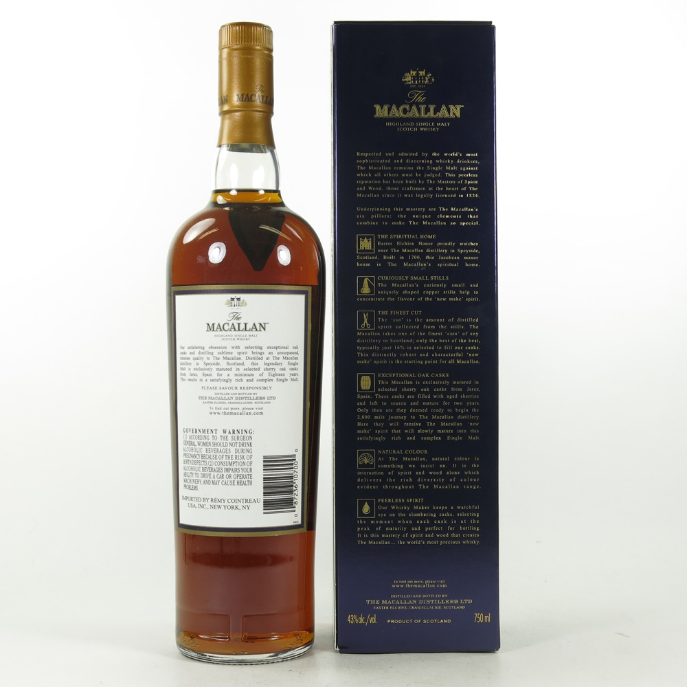 Macallan 1991 18 Year Old US Import 75cl